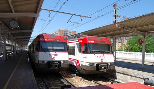 Unidades s/446 estacionadas en Alcalá de Henares.