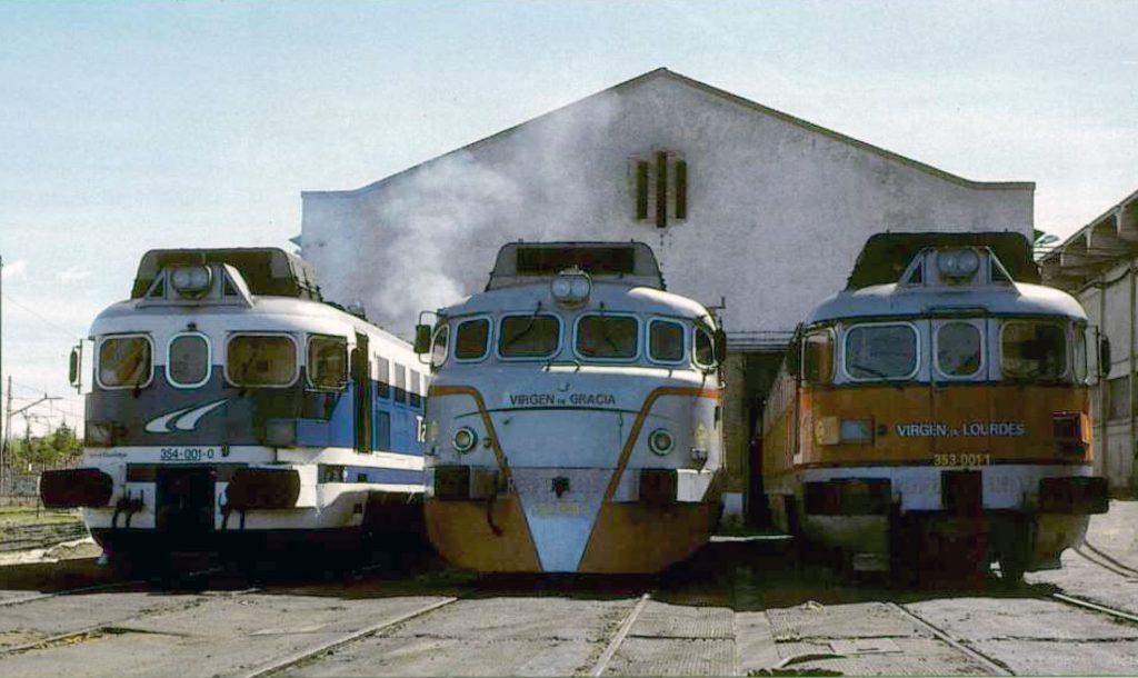 Imagen de archivo del desaparecido depósito de locomotoras de Talgo en Aravaca (Madrid).