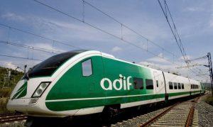 Imagen de archivo de unos de los trenes laboratorio de Adif.