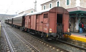 Composición de material histórico del Tren de la Fresa.