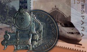 "Cartel anunciador de ""El arte del grabado y el ferrocarril del siglo XIX al XXI""."