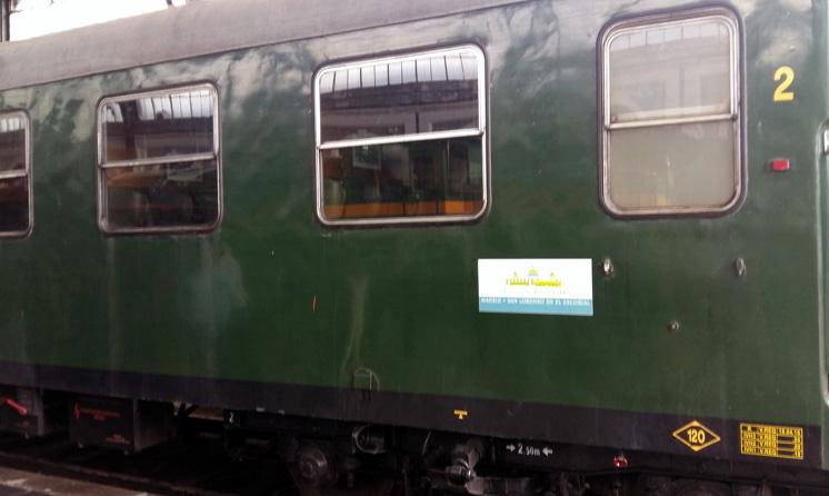 """Imagen del día de la presentación del """"Tren de Felipe II""""."""