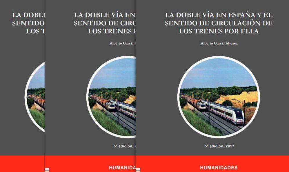 Portada del libro digital 'La doble vía en España y el sentido de circulación de los trenes por ella'.