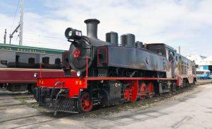 Locomotora de vapor VA 8 de ancho métrico.