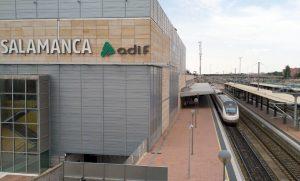 Edificio de la estación de Salamanca.