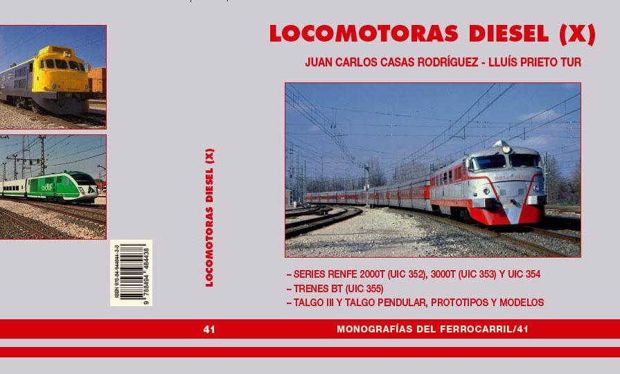 Portada del libro 'Locomotoras Diésel (X)'.