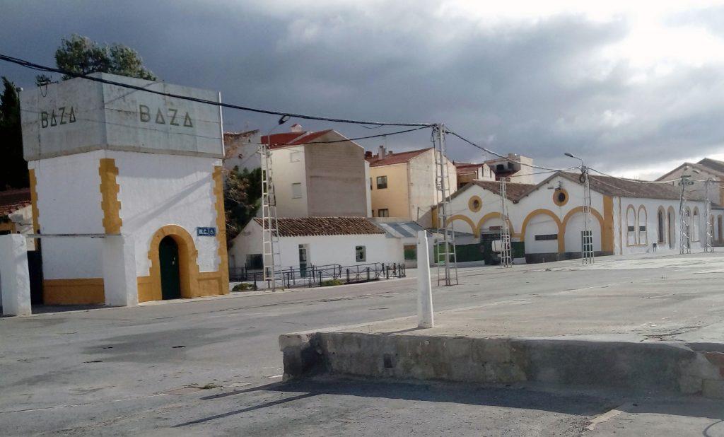 Antiguas instalaciones ferroviarias de Baza.