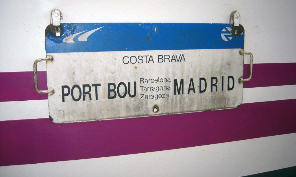 Detalle del antiguo tren nocturno 'Costa Brava'.