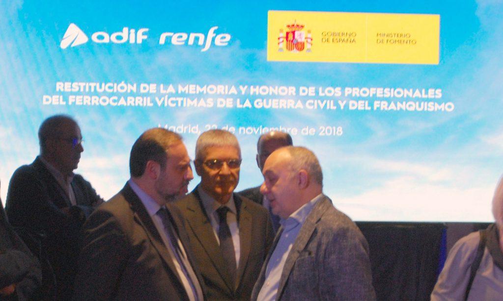 Acto del Ministerio de Fomento en Madrid-Puerta de Atocha.