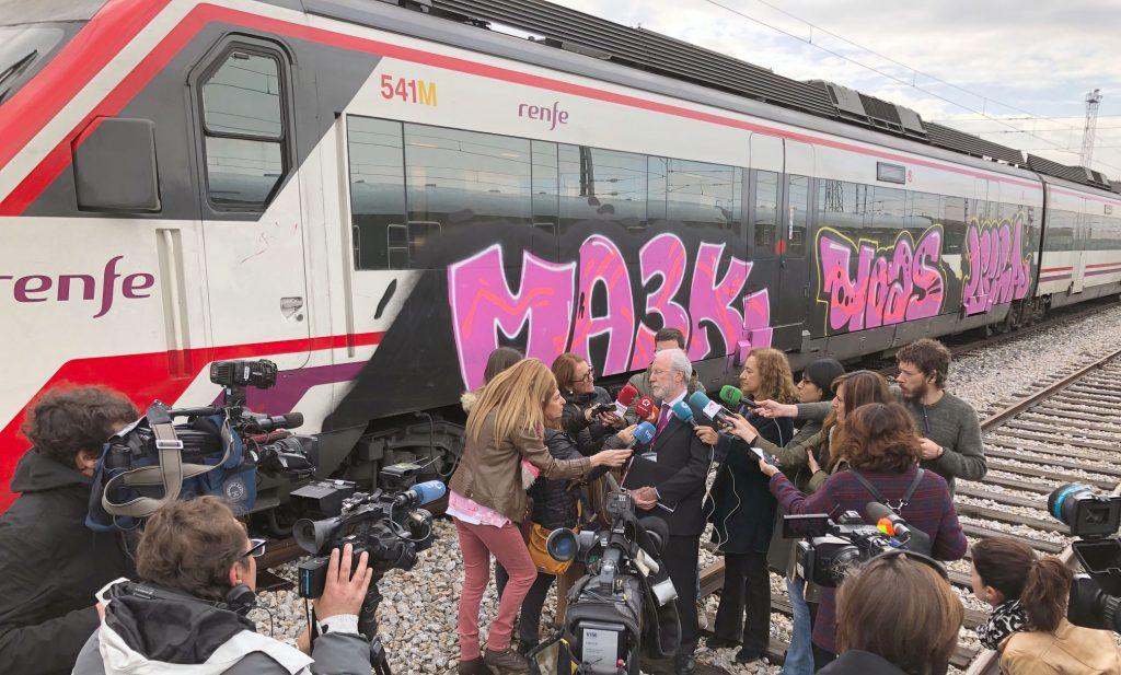 Rueda de Prensa sobre los grafitis en trenes de Renfe Viajeros.