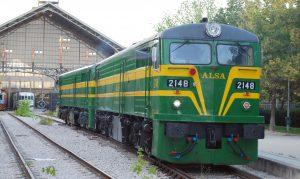 Locomotoras ALCo 2100 de Alsa en el Museo de Madrid-Delicias.