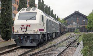 Salida de Madrid-Delicias del Tren de la Fresa.