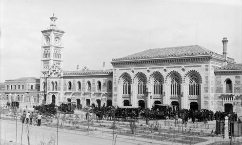 Estación de Toledo recién inaugurada (año 1919).