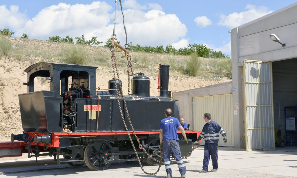 Locomotora de vapor 020T, antigua MZA 606.