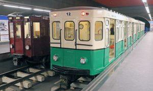 Trenes de la exposición organizada en la madrileña estación de Chamartín.