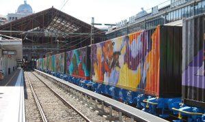 El 'Tren de Noé' estacionado en Madrid-Príncipe Pío.