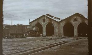 Antigua imagen del depósito de locomotoras de vapor de Móra la Nova.