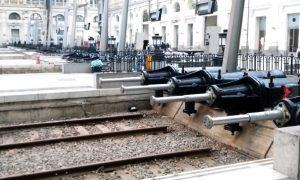Toperas rehabilitadas en la estación de Barcelona-França.